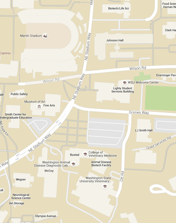 College Of Veterinary Medicine Map